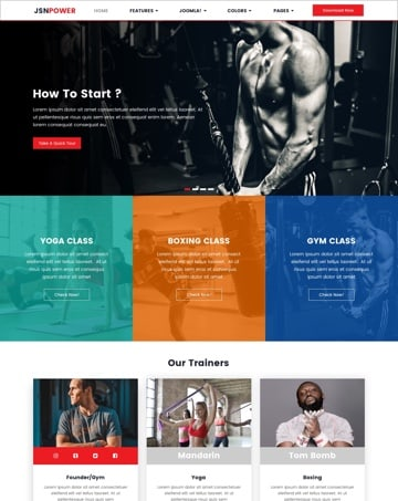 Gym Power Website